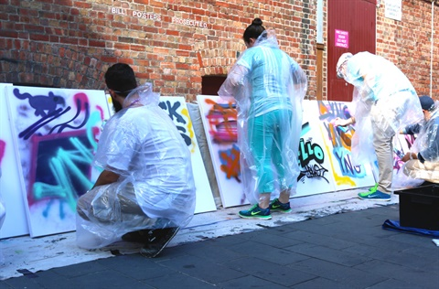 Youth graffiti program