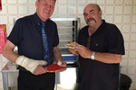 Mayor Mark Radford and Jeff Pekin in Table Tennis kitchen.JPG