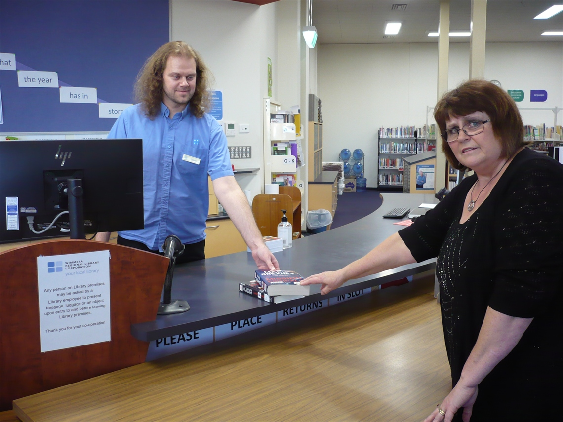 Renewed borrowing Horsham Library Simon and Tricia.JPG